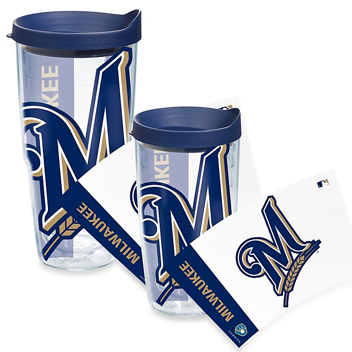 Tervis 174 Milwaukee Brewers Wrap Tumbler With Blue Lid Bed