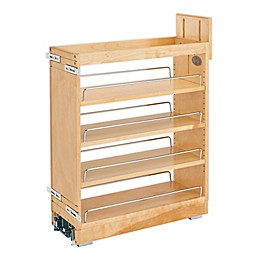 Rev-A-Shelf Pull-Out Wood Base Cabinet Organizer with Ball-Bearing Soft-Close Slides