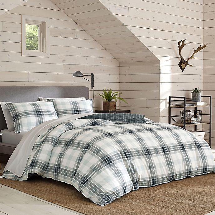 Alternate image 1 for Eddie Bauer® Winter Ridge Plaid Reversible Comforter Set in Green