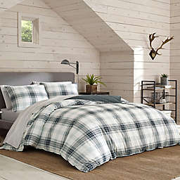 Eddie Bauer® Winter Ridge Plaid 2-Piece Reversible Twin Comforter Set in Green