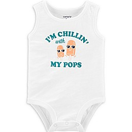 carter's® Chillin with my Pops Tank Bodysuit in White