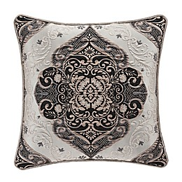 J. Queen New York™ Vera Square Throw Pillow in Silver