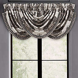 J. Queen New York™ Vera Waterfall Window Valance in Silver
