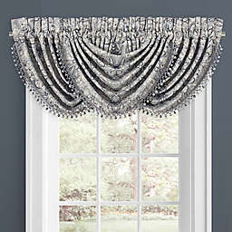J. Queen New York™ Alexis Rod Pocket Window Waterfall Valance in Powder Blue