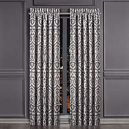 J. Queen New York™ Tribeca 2-Pack 84-Inch Rod Pocket Window Curtain Panels in Charcoal
