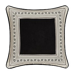 J. Queen New York™ Annette 20-Inch Square Throw Pillow in Black