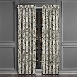 J. Queen New York™ Annette 2-Pack 84-Inch Rod Pocket Window Curtain Panel in Black