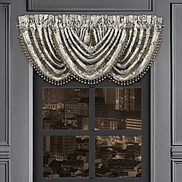 J. Queen New York™ Annette Window Waterfall Valance in Black