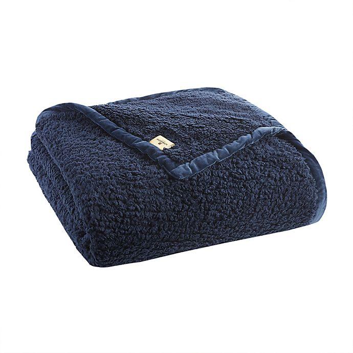 Alternate image 1 for Woolrich Burlington Berber Blanket in Navy