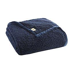 Woolrich Burlington Berber Blanket in Navy
