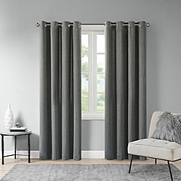 Madison Park Englewood Grommet Solid Piece Dyed Window Curtain Panel