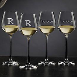 Olivia & Oliver™ Madison Personalized 14.5 oz. White Wine Glasses (Set of 4)