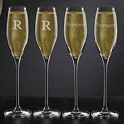 Olivia & Oliver™ Madison Personalized Champagne Flutes (Set of 4)