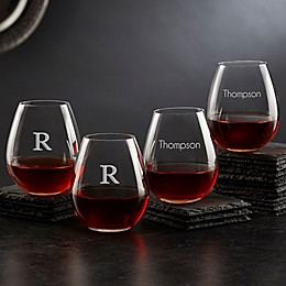 Olivia & Oliver™ Madison Personalized Stemless Wine Glasses (Set of 4)