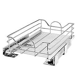 Rev-A-Shelf® Single Tier Metal Pull Out Basket in Chrome