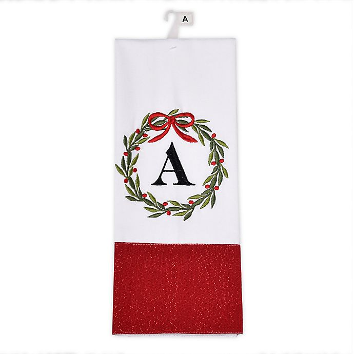 Alternate image 1 for Herritage Clothing Monogram Christmas Kitchen Towel