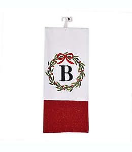 """Toalla de cocina navideña Herritage Clothing con letra """"B"""""""
