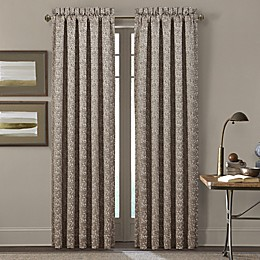J. Queen New York™ Cracked Ice 2-Pack 84-Inch Rod Pocket Window Curtain Panels in Taupe