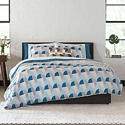 Novogratz Collection Skye Geo 2-Piece Twin Duvet Cover Set in Blue