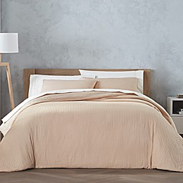 Highline Bedding Co. Cocoon Waffle 3-Piece Duvet Cover Set in Apricot