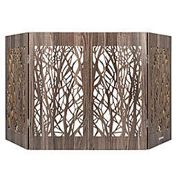 Cardinal Gates® Freestanding Branches Decorative Pet Gate in Barnwood