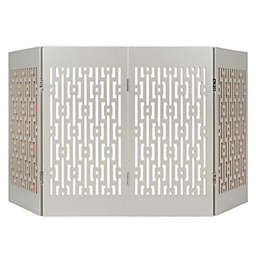 Cardinal Gates® Freestanding Geometric Decorative Pet Gate in Grey