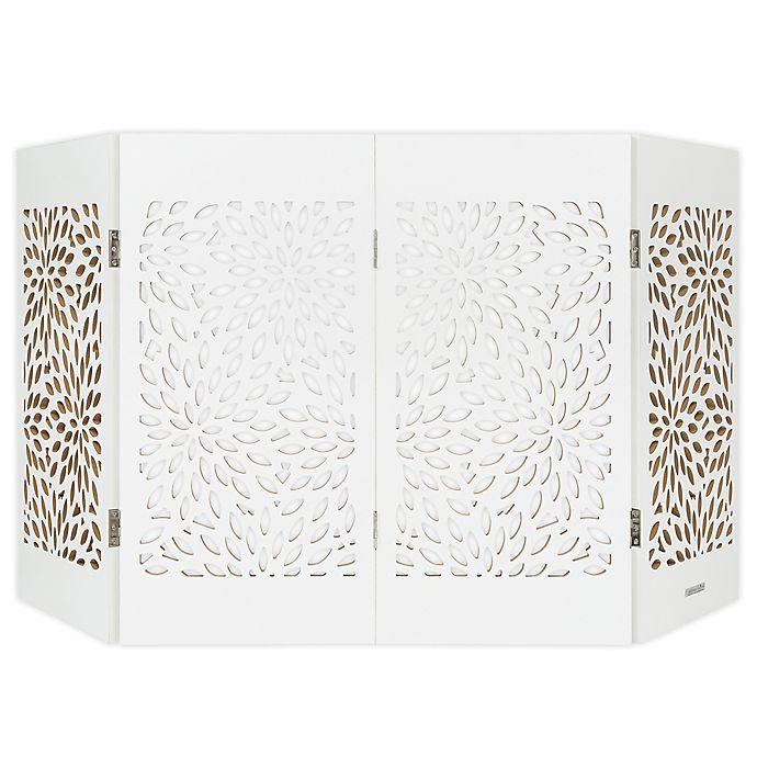 Alternate image 1 for Cardinal Gates® Freestanding Starburst Decorative Pet Gate in White