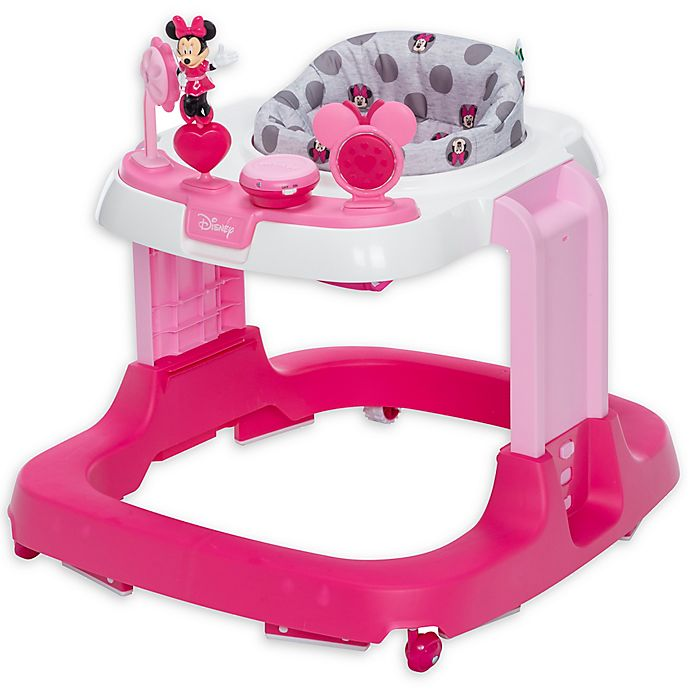 Alternate image 1 for Safety 1st® Disney Baby® Minnie Mouse Ready, Set, Walk! DX Developmental Walker in Pink/Grey