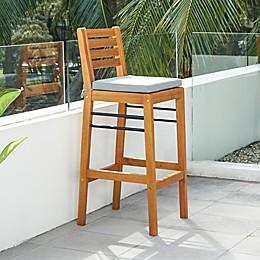 Vifah Gloucester Eucalyptus Patio Bar Chair