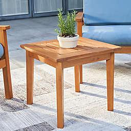 Vifah Gloucester 20-Inch Square Eucalyptus Patio Side Table
