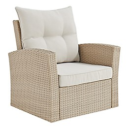 Canaan All-Weather Wicker Outdoor Armchair in Brown