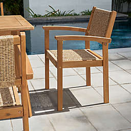 Vifah Chesapeake All-Weather Wood Dining Chairs (Set of 2)