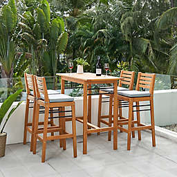 Vifah Gloucester 5-Piece Patio Bar Set