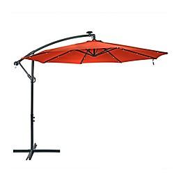 10-Foot Offset Solar LED Patio Umbrella