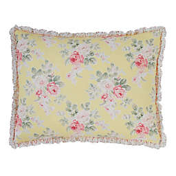 Laura Ashley® Melany Standard Pillow Sham in Yellow