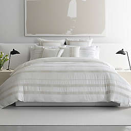 Vera Wang® Pucker Grid 3-Piece King Duvet Cover Set in Platinum