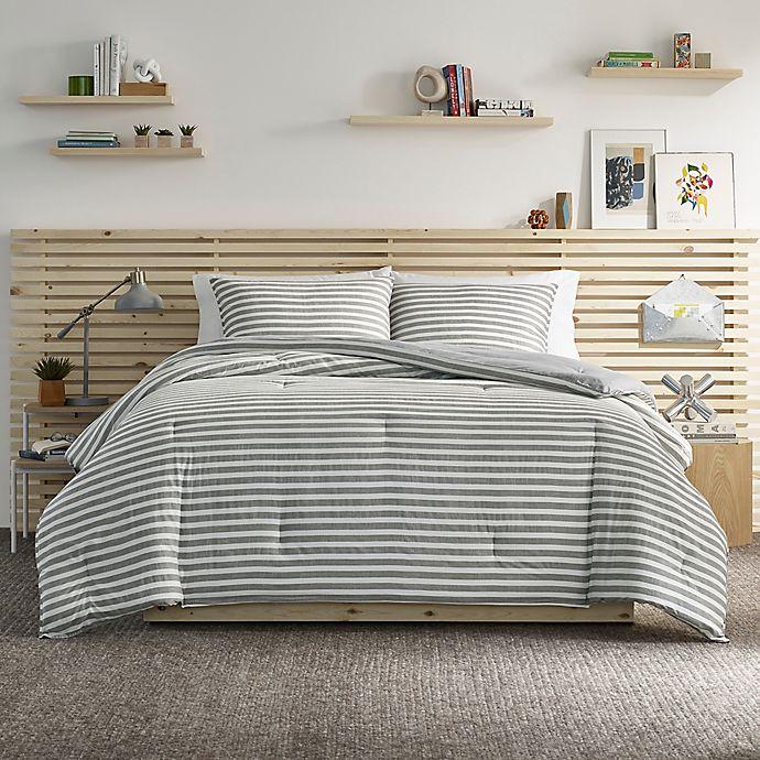 Alternate image 1 for Bennett 3-Piece Reversible King Comforter Set in Grey