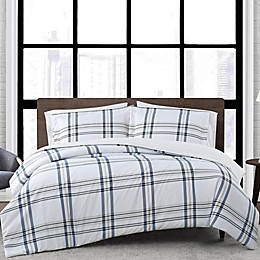 London Fog® Kent Plaid Reversible Duvet Set