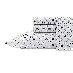 Marimekko® Kukkaketo 200-Thread-Count Standard/Queen Pillowcases in Black (Set of 2)
