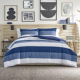 Nautica® Jeans Co Wilton 3-Piece Reversible Comforter Set in Blue