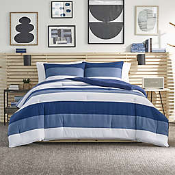 Nautica® Jeans Co Wilton 3-Piece Reversible Comforter Set in Blue