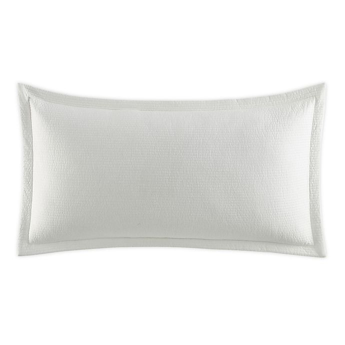 Alternate image 1 for Nautica® Jeans Co Wilton Channel Quilted Lumbar Throw Pillow in White