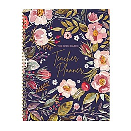 TF Publishing Botanical Floral Undated Weekly Teacher Planner