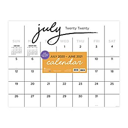 TF Publishing Black & White July 2020 to June 2021 Desk Pad Calendar