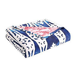 Tracy Porter® Blair Throw Blanket in Navy/Pink