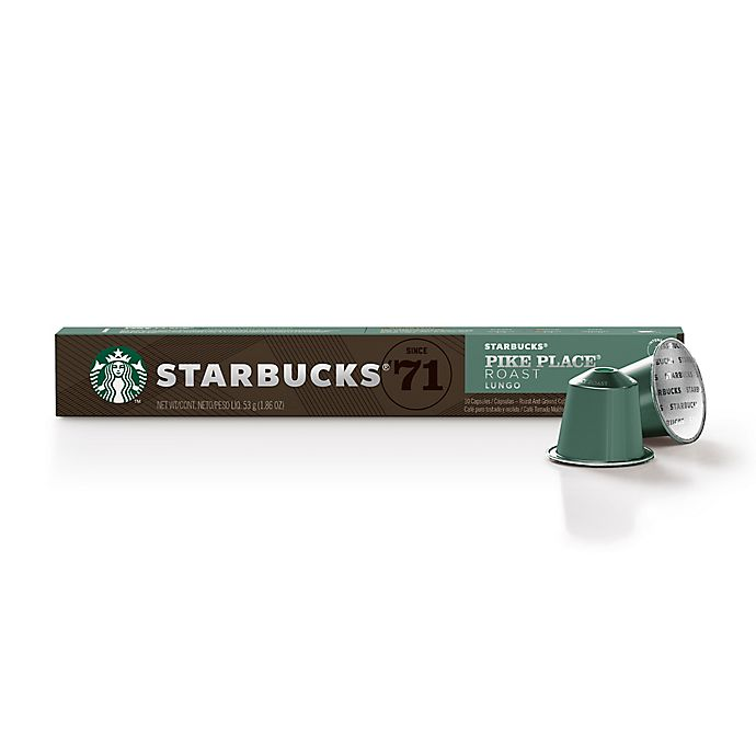 Alternate image 1 for Starbucks® by Nespresso® Pike Place Coffee Capsules 10-Count