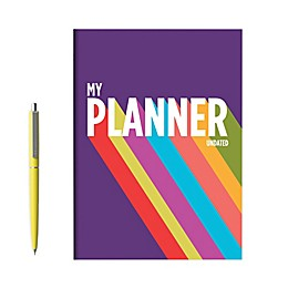 TF Publishing Purple Rainbow Undated Monthly Planner