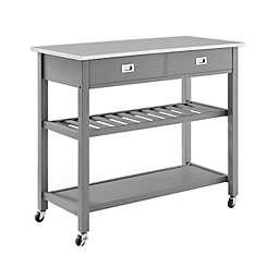 Crosley Chloe Stainless Steel Top Kitchen Cart