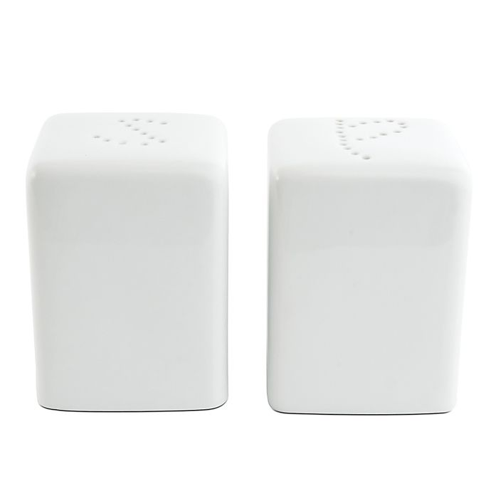 Alternate image 1 for Everyday White® by Fitz and Floyd® Square Salt and Pepper Shakers