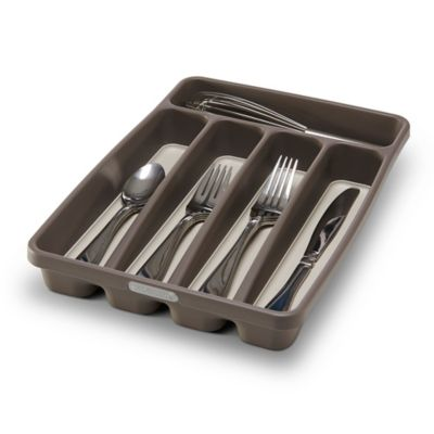 Madesmart 174 5 Compartment Mini Cutlery Tray In Grey Bed